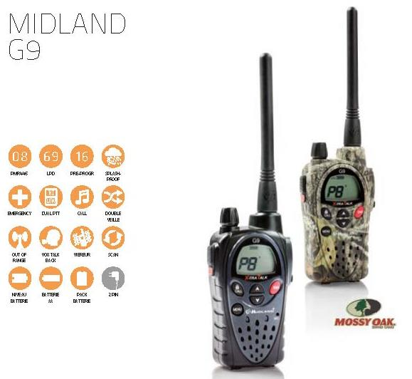 Talkie-wlakie Midland G9, Onedirect