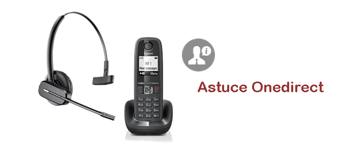 Appairage tel DECT et casque, Onedirect